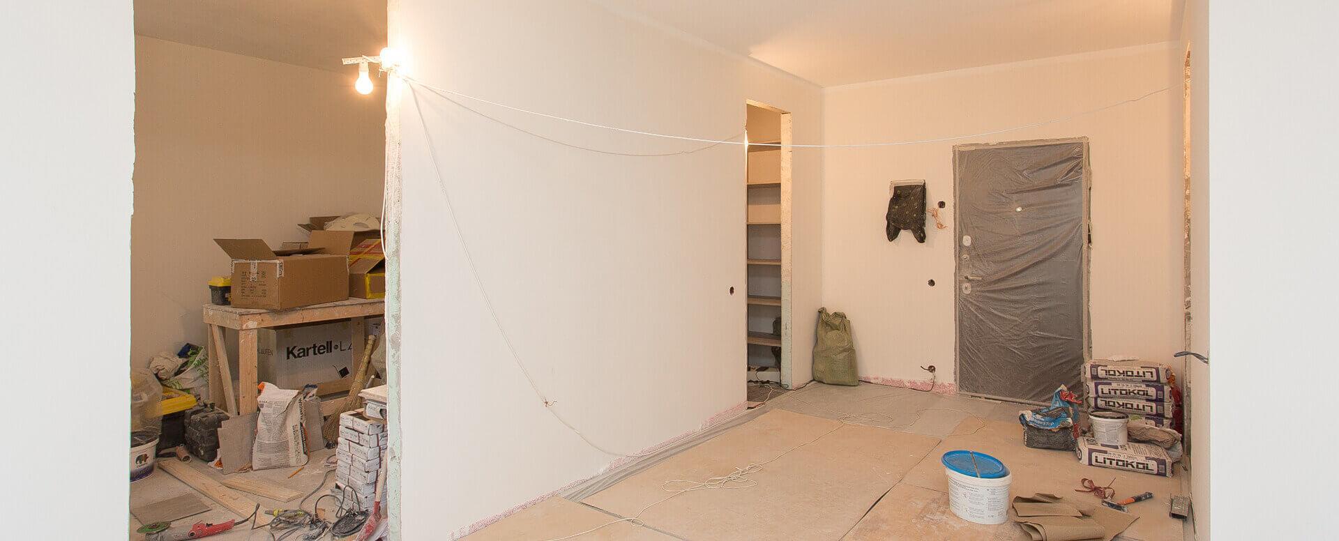 Черновой ремонт двухкомнатной квартиры