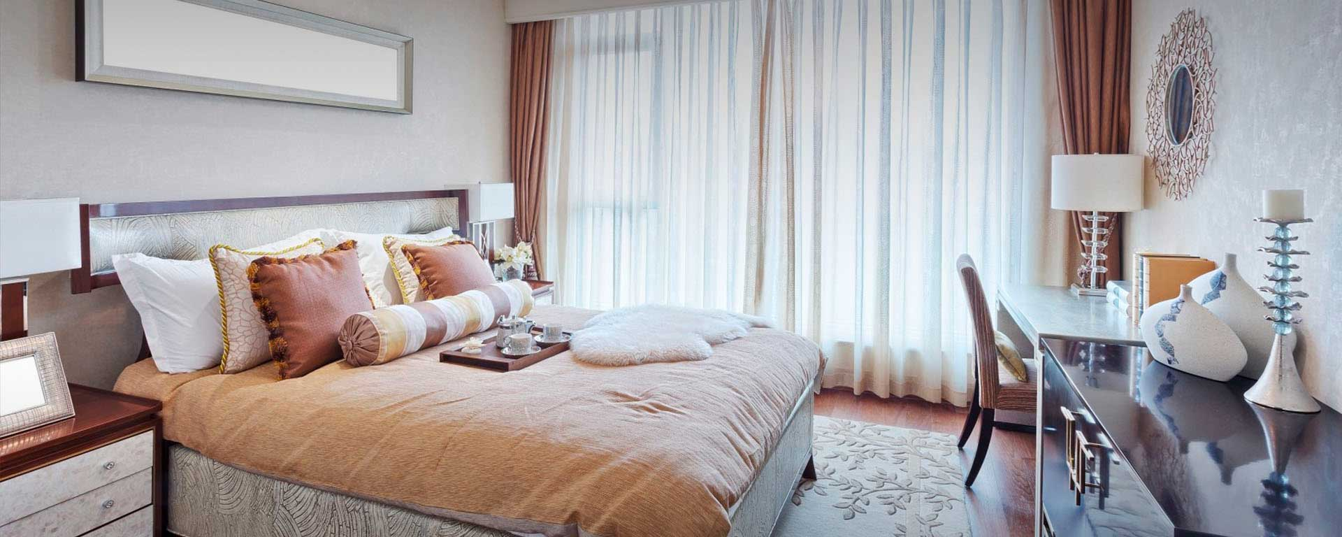 Элитный ремонт спальни под ключ